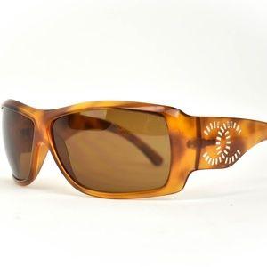 CHANEL Tortoise Crystal CC Polarized Sunglasses bh